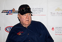 Aug. 29, 2013; Avon, IN, USA: NHRA NHRA former driver Tom McEwen on the red carpet prior to the premiere of Snake & Mongoo$e at the Regal Shiloh Crossing Stadium 18. Mandatory Credit: Mark J. Rebilas-