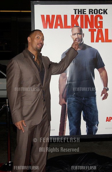 "DWAYNE ""THE ROCK"" JOHNSON at the world premiere, in Hollywood, of his new movie Walking Tall..March 29, 2004"