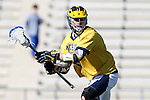06 February 2016: Michigan's Peter Kraus. The University of North Carolina Tar Heels hosted the University of Michigan Wolverines in a 2016 NCAA Division I Men's Lacrosse match. UNC won the game 20-10.