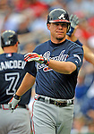 12 April 2008: Atlanta Braves' third baseman Chipper Jones in action against the Washington Nationals at Nationals Park, in Washington, DC. The Braves defeated the Nationals 10-2...Mandatory Photo Credit: Ed Wolfstein Photo