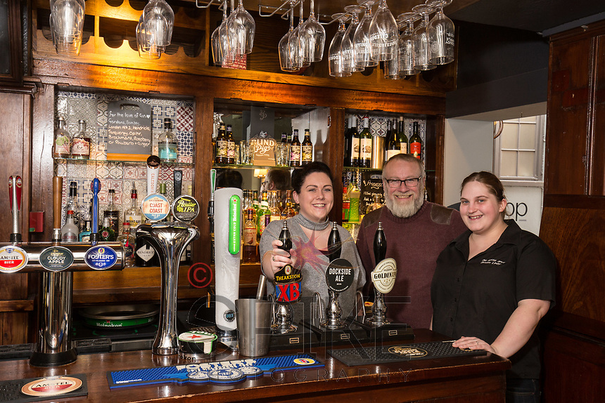 Pictured with Licencee Graeme Beal are staff members Carly Hallam (left) and Alison Wheeldon at the Horse & Groom, Linby
