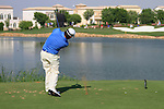 Graeme McDowell tees off on the par3 6th tee during Day 1 of the Dubai World Championship, Earth Course, Jumeirah Golf Estates, Dubai, 25th November 2010..(Picture Eoin Clarke/www.golffile.ie)