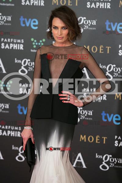 Nieves Alvarez attend the 2015 Goya Awards at Auditorium Hotel, Madrid,  Spain. February 07, 2015.(ALTERPHOTOS/)Carlos Dafonte) /NORTEphoto.com