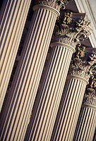 Capitol Building columns. Washington DC District of Columbia United States.