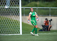 Robyn Jones (39) of the Charlotte Lady Eagles can only watch as a goal is scored during the game at the Maryland SoccerPlex in Boyds, Maryland.  The D.C. United Women defeated the Charlotte Lady Eagles, 3-0, to win the W-League Eastern Conference Championship.