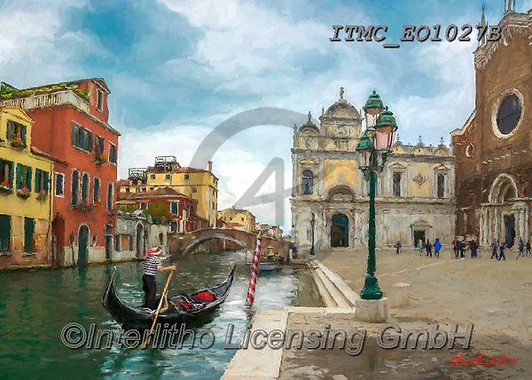 Marcello, LANDSCAPES, LANDSCHAFTEN, PAISAJES, paintings+++++,ITMCEO1027B,#l#, EVERYDAY ,venice ,puzzles