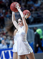 Real Madrid's cheerleader during Euroleague 2012/2013 match.January 11,2013. (ALTERPHOTOS/Acero) NortePHOTO
