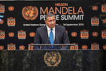 Opening Plenary Meeting of the Nelson Mandela Peace Summit<br /> <br /> His Excellency Andrew HOL ESSPrime Minister and Minister of Defence,Economic Growth and Job Creation of Jamaica