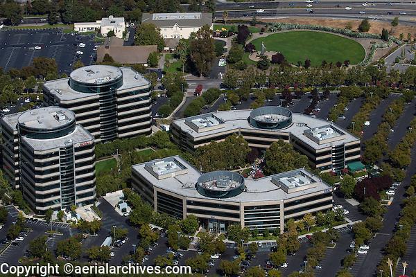 aerial photograph corporate headquarters McAfee, Inc. Santa Clara, California