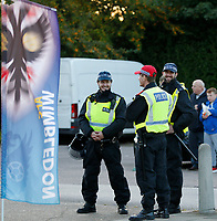 Police presence seen prior to the Sky Bet League 1 match between AFC Wimbledon and MK Dons at the Cherry Red Records Stadium, Kingston, England on 22 September 2017. Photo by Carlton Myrie / PRiME Media Images.