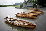 Row boats at Lake Derwentwater, Keswick, Lake District, England.