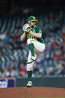 Baylor Bears relief pitcher Logan Freeman (44) in action against the LSU Tigers in game five of the 2020 Shriners Hospitals for Children College Classic at Minute Maid Park on February 28, 2020 in Houston, Texas. The Bears defeated the Tigers 6-4. (Brian Westerholt/Four Seam Images)