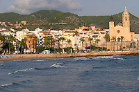 The beach. Sitges, Catalonia, Spain