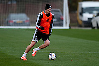 Thursday 20 March 2014<br /> Pictured: Jonjo Shelvey <br /> Re: Swansea City Training at their Fairwood training facility, Swansea, Wales,UK