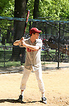 As The World Turns Eric Sheffer Stevens plays shortstop on the Jersey Boys team in The Broadway Show League (softball) which has teams from the Broadway shows who play each other Thursdays throughout the summer in Central Park, New York City, New York. These photos were on April 29, 2010. (Photo by Sue Coflin/Max Photos)