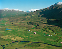 Syðri-Grund, Grund og Lómatjörn, Grýtubakkahreppur..HÈr var áður sjukraflugvöllur. /.Sydri-Grund, Grund and Lomatjorn farms in Grytubakkahreppur. Also former site of airfield.