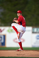 Williamsport Crosscutters starting pitcher Spencer Howard (29) delivers a warmup pitch during a game against the Mahoning Valley Scrappers on July 8, 2017 at BB&T Ballpark at Historic Bowman Field in Williamsport, Pennsylvania.  Williamsport defeated Mahoning Valley 6-1.  (Mike Janes/Four Seam Images)