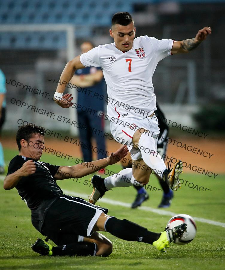 Fudbal Soccer<br /> Reprezentacija Srbije U21<br /> Kvalifikacije za U21 EURO 2019<br /> Srbija U21 v Gibraltar U21<br /> Nemanja Radonjic (R)<br /> Jagodina, 09.01.2017.<br /> foto: Srdjan Stevanovic/Starsportphoto &copy;