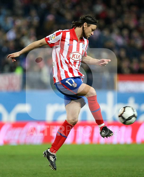 Atletico de Madrid's Tomas Ujfalusi during La Liga match.(ALTERPHOTOS/Acero)