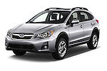 2017 Subaru Crosstrek 2.0i Premium CVT 5 Door SUV Angular Front stock photos of front three quarter view