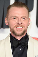 Simon Pegg arriving for the &quot;Mission: Impossible - Fallout&quot; premiere at the BFI IMAX South Bank, London, UK. <br /> 13 July  2018<br /> Picture: Steve Vas/Featureflash/SilverHub 0208 004 5359 sales@silverhubmedia.com
