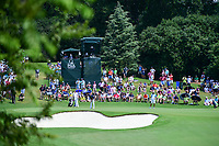 Jordan Spieth (USA) putts on 13 during Sunday's final round of the PGA Championship at the Quail Hollow Club in Charlotte, North Carolina. 8/13/2017.<br /> Picture: Golffile | Ken Murray<br /> <br /> <br /> All photo usage must carry mandatory copyright credit (&copy; Golffile | Ken Murray)