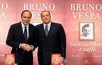 """20131204 ROMA-POLITICA: BERLUSCONI PRESENTA IL NUOVO LIBRO DI BRUNO VESPA """"SALE, ZUCCHERO E CAFFE'"""""""""""