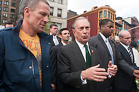 Lance Armstrong and NYC Mayor Mike Bloomberg