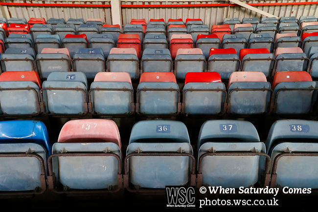 Wrexham 2 Ebbsfleet United 0, 18/11/2017. The Racecourse Ground, National League. Multicoloured seats at The Racecourse Ground. Photo by Paul Thompson.