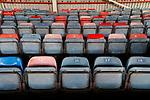 Wrexham 2 Ebbsfleet United 0, 18/11/2017. The Racecourse Ground, National League. Multicoloured seats at The Racecourse Ground. Photo by Paul Thompson.