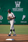 May 24, 2014; Stockton, CA, USA; Pepperdine Waves infielder Manny Jefferson (5) during the WCC Baseball Championship at Banner Island Ballpark.