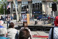 Gross-Gerau 01.05.2016: Maikundgebung des DGB-Ortsverein Gro&szlig;-Gerau, Sandb&ouml;hl<br /> DGB-Ortsverbands Vorsitzender Jochen Auer bei seiner Ansprache<br /> Foto: Vollformat/Marc Sch&uuml;ler, Sch&auml;fergasse 5, 65428 R'eim, Fon 0151/11654988, Bankverbindung KSKGG BLZ. 50852553 , KTO. 16003352. Alle Honorare zzgl. 7% MwSt.
