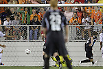 29 May 2012: Carolina's Brian Shriver (right) scores the game-winning goal in the 88th minute. The Carolina RailHawks (NASL) defeated the Los Angeles Galaxy (MLS) 2-1 at WakeMed Soccer Stadium in Cary, NC in a 2012 Lamar Hunt U.S. Open Cup third round game.