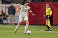 CARSON, CA - FEBRUARY 7: Jimena Lopez #5 of Mexico moves with the ball during a game between Mexico and USWNT at Dignity Health Sports Park on February 7, 2020 in Carson, California.