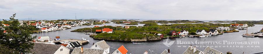 Rogaland, Norway. Kvitsøy island. Ydstebøhavn. Stitched panorama.