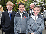 Darragh Dixon, Paul DeRenzy and Órán Connor who were confirmed at The Church of the Immaculate Conception Termonfeckin. Photo:Colin Bell/pressphotos.ie