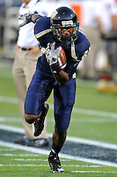 4 December 2010:  FIU wide receiver Jairus Williams (81) runs drills prior to the game.  The Middle Tennessee State University Blue Raiders defeated the FIU Golden Panthers, 28-27, at FIU Stadium in Miami, Florida.