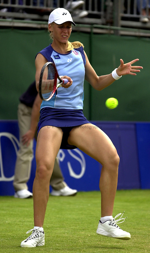 Photo: Richard Lane..DFS Classic Women's International Tennis at Edgebaston. 12/06/2003..Elena Dementieva.