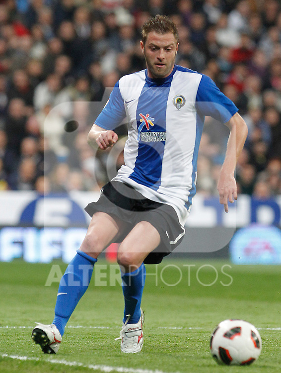 Hercules' Cristian Hidalgo during La Liga match.March 12,2011. (ALTERPHOTOS/Acero)