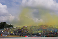 Valentino Rossi's Fans during the MotoGP Italy Grand Prix 2017 at Autodromo del Mugello, Florence, Italy on 4th June 2017. Photo by Danilo D'Auria.<br /> <br /> Danilo D'Auria/UK Sports Pics Ltd/Alterphotos /NortePhoto.com
