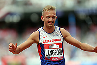 Kyle Langford of Great Britain after competing in the menís 800 metres during the Muller Anniversary Games at The London Stadium on 9th July 2017