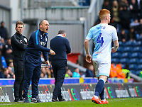 Preston North End manager Alex Neil shouts instructions to his team from the technical area<br /> <br /> Photographer Alex Dodd/CameraSport<br /> <br /> The EFL Sky Bet Championship - Blackburn Rovers v Preston North End - Saturday 9th March 2019 - Ewood Park - Blackburn<br /> <br /> World Copyright © 2019 CameraSport. All rights reserved. 43 Linden Ave. Countesthorpe. Leicester. England. LE8 5PG - Tel: +44 (0) 116 277 4147 - admin@camerasport.com - www.camerasport.com