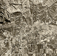 historical aerial photograph Fallbrook, San Diego county, California, 1946