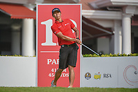 Jin-Bo HA (KOR) watches his tee shot on 12 during Rd 2 of the Asia-Pacific Amateur Championship, Sentosa Golf Club, Singapore. 10/5/2018.<br /> Picture: Golffile | Ken Murray<br /> <br /> <br /> All photo usage must carry mandatory copyright credit (© Golffile | Ken Murray)