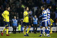 Blackburn Rovers' Bradley Dack shakes hands with Reading's Lewis Baker at the end of the match<br /> <br /> Photographer Andrew Kearns/CameraSport<br /> <br /> The EFL Sky Bet Championship - Reading v Blackburn Rovers - Wednesday 13th February 2019 - Madejski Stadium - Reading<br /> <br /> World Copyright © 2019 CameraSport. All rights reserved. 43 Linden Ave. Countesthorpe. Leicester. England. LE8 5PG - Tel: +44 (0) 116 277 4147 - admin@camerasport.com - www.camerasport.com