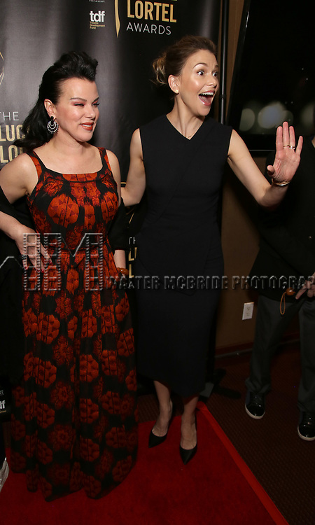 Debi Mazar and Sutton Foster attends 32nd Annual Lucille Lortel Awards at NYU Skirball Center on May 7, 2017 in New York City.