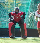 TILBURG  - hockey-  Keeper Anna Gabara (MOP)    tijdens de wedstrijd Were Di-MOP (1-1) in de promotieklasse hockey dames. COPYRIGHT KOEN SUYK