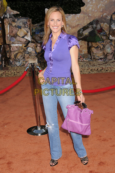 "MARLEE MATLIN.""Wall-E"" World Premiere at the Greek Theatre, Los Angeles, California, USA..June 21st, 2008.full length jeans denim purple top pink bag purse .CAP/ADM/BP.©Byron Purvis/AdMedia/Capital Pictures."