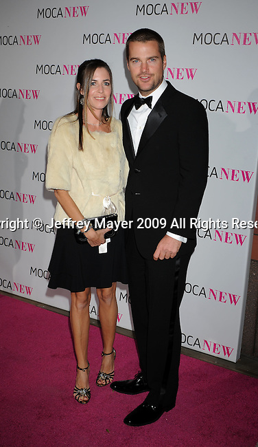 LOS ANGELES, CA. - November 14: Actor Chris O'Donnell (R) and Caroline O'Donnell arrive at the MOCA NEW 30th anniversary gala held at MOCA on November 14, 2009 in Los Angeles, California.