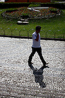 Curitiba_PR, Brasil...Praça Garibaldi no Largo da Ordem, no centro historico da cidade de Curitiba, Parana...Garibaldi square in Largo da Ordem, historical center in Curitiba, Parana...Foto: BRUNO MAGALHAES / NITRO